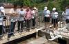 百镇千村万户环保宣传教育活动组织参观乡镇污水处理厂