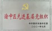 """巴渝公益党支部荣获""""渝中区先进基层党组织"""""""